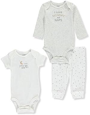 Baby 3 Piece I Love Mommy Set