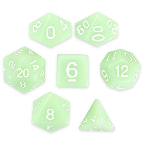 Wiz Dice Ghost Jade Set of 7