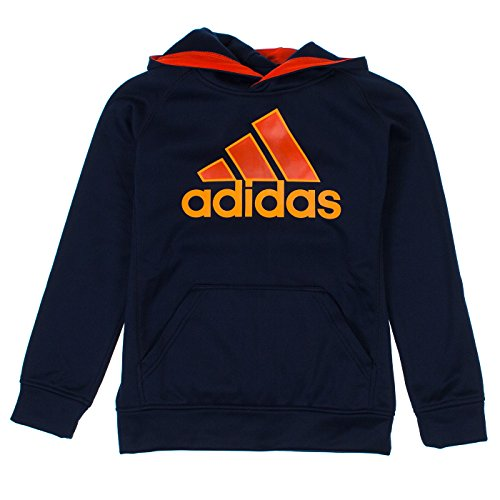 Adidas Performance Youth Boys Adidas Logo Hoodie, Navy, Small(8)