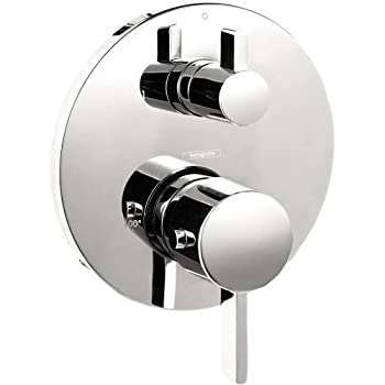 Image of Hansgrohe Ecostat Modern 2-Handle 7-inch Wide, Temperature Memory, Valve, Diverter in Chrome, 04231000 Thermostatic Trim, Medium Home Improvements