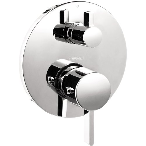 Hansgrohe 04230000 S Thermostatic Trim With Volume Control and Diverter - Hansgrohe Trim Volume Control