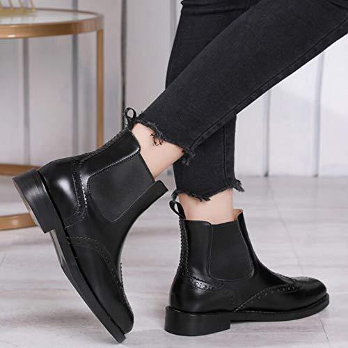 Lokomotive und Fallen Stiefel CITW Knight Mit Stiefel Boots Mit Winter Chelsea Mode Damenstiefel Dick Martin Boots Reitstiefeln qwqCzEA5