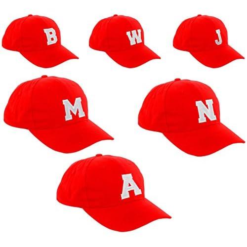 New Gorra de béisbol Cap rojo para niño niña niños sombrero Gorro Unisex  A-Z alfabeto 30 719109cdb0f