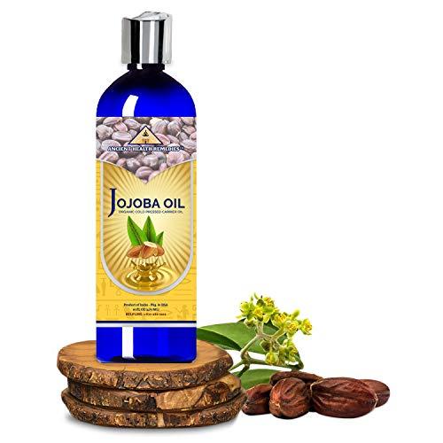 Organic Unrefined Cold Pressed PURE JOJOBA CARRIER OIL 1LB (16 oz) Bulk Wholesale Beauty Hair Growth Moisturizing DIY…