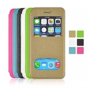 LIMME Open the Window PU leather for iPhone 6(Assorted Colors) , Blue