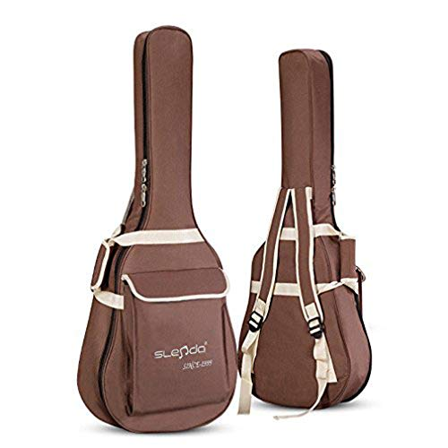 - 40/41 Inch Guitar Gig Bag Case Waterproof Dual Adjustable Shoulder Strap Padded Acoustic Guitar Bag Case Carrying Backpack for 40