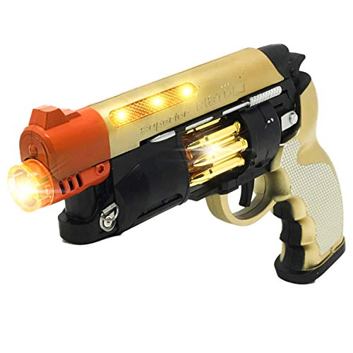 Steampunk Cool Kids Toys Guns for Boys,Girls Revolver Pistol with Lights -