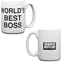 The Office Dunder Mifflin World's Best Boss kahve kupası NBC