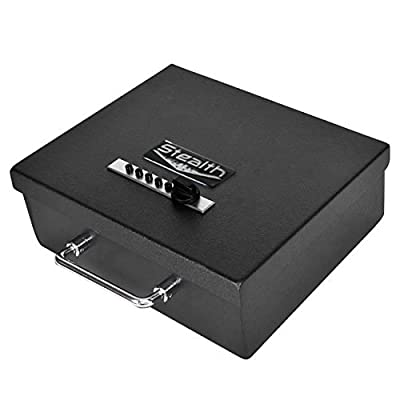 "Stealth Portable Handgun Safe PS1210EZ Pistol Box + Free 13.5"" Dean Safe Pistol Sock"