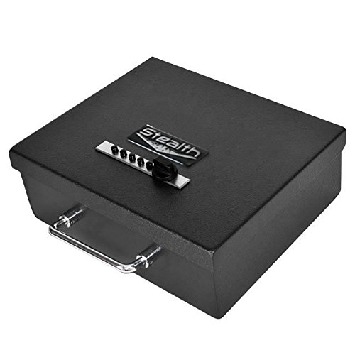 Stealth Portable Handgun Safe PS1210EZ Pistol Box + Free 13.5'' Dean Safe Pistol Sock by STEALTH