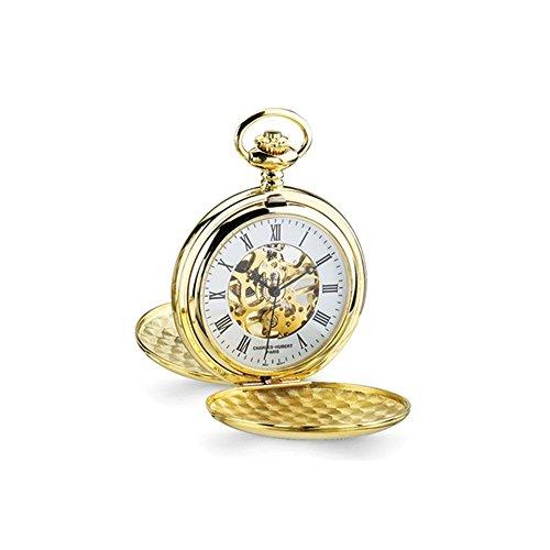 14k Gold Pocket Watch - Top 10 Jewelry Gift Charles Hubert 14k Gold Finish White Skeleton Dial Pocket Watch