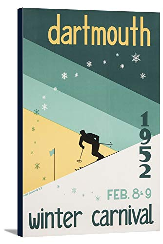 (Dartmouth Winter Carnival 1952 Vintage Poster (artist: Dohanos) USA (23 1/8x36 Gallery Wrapped Stretched Canvas))