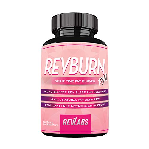 RevBurn PM Night Time Weight Loss for Her with Chamomile & Appetite Suppressant - Night Time Burner ; Promotes Deep Rem Sleep and Recovery - Stimulant Free Metabolism Booster to Burn Fat 30 Cap