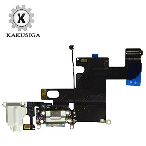KAKUSIGA Compatible with iPhone 6 USB Charging Port Dock Connector Flex Cable + Microphone + Headphone Audio Jack Replacement for 6 4.7