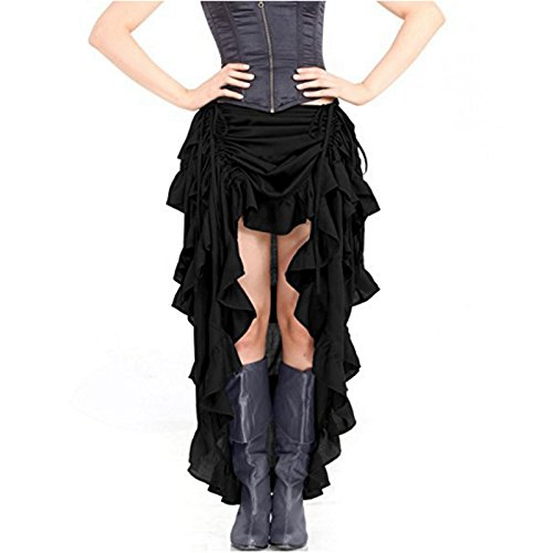 Dance Party Performance Longue Black Dress Folk Gothique Jupe Cosplay Steampunk Femme Feicuan qZ8xYn