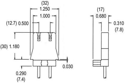 Linear Fluorescent T8//T10//T12 Medium Bipin Molded lampholder LH0103