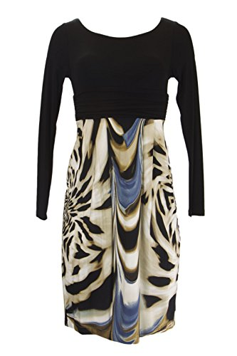 Analili Women's Animal Print Skirt Empire Waist Dress 804AF09 Sz Small (Animal Print Empire Dress)