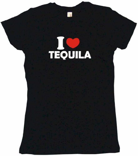 Mezcal Reposado - I Heart Love Tequila Women's Babydoll Tee Shirt XL-Black
