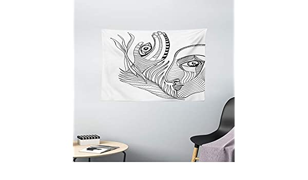 Psicodélico tapiz por Ambesonne, Trippy surrealista abstracto ...