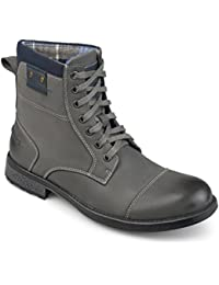 Mens Genuine Leather Lace-up Boots