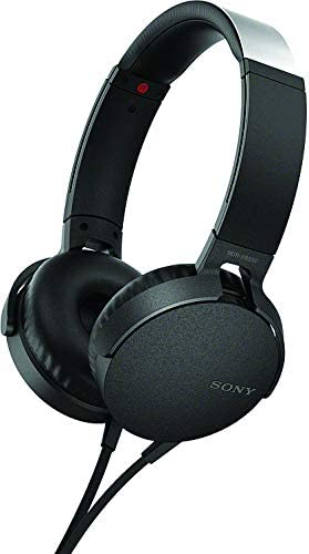 Sony XB550AP Extra Bass On-Ear Headset Headphones with mic for phone call, Black