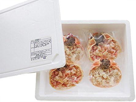 ずわい蟹甲羅盛り (4袋セット) ズワイカニのほぐし身とズワイ蟹の味噌を一緒に甲羅に詰め込んだ至福の逸品 (殻むき不要) 松葉ガニ 焼きかにや甲羅酒でお楽しみ下さい
