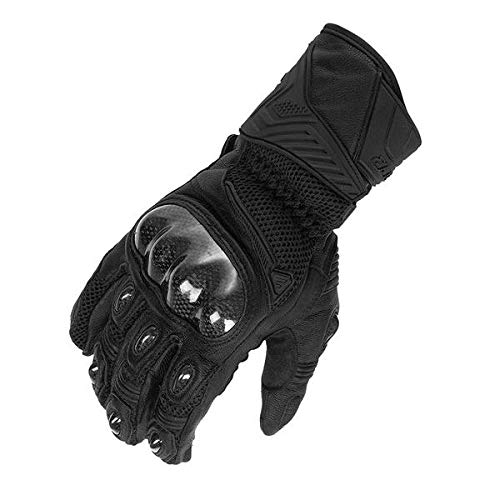 Fieldsheer Throttle Leather Mesh Glove, Black/Black, XL