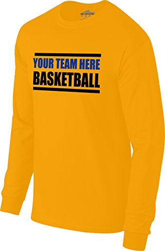 d873052b151 Custom Personalized Your Team Here Basketball Warm-up Long Sleeve Tee T- Shirt