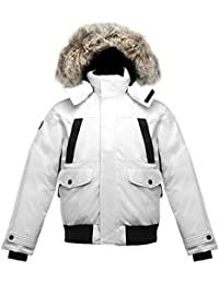 SAGA Collection | Norden Mens Hooded Goose Down Jacket Parka with Real Coyote Fur