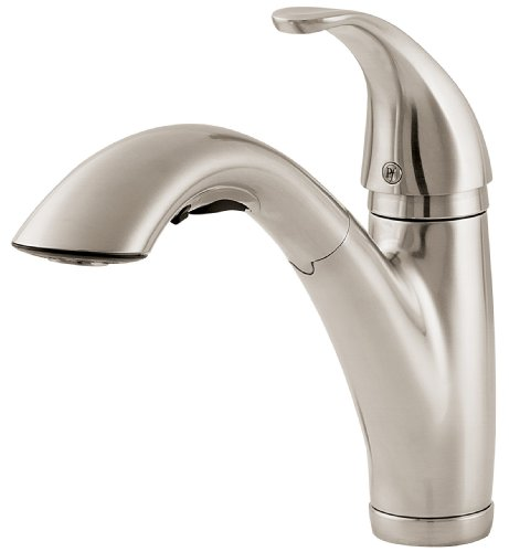 Pfister F53470SS Parisa Single Control Pull-Out Kitchen Faucet , Stainless Steel - Brass Parisa Single Handle