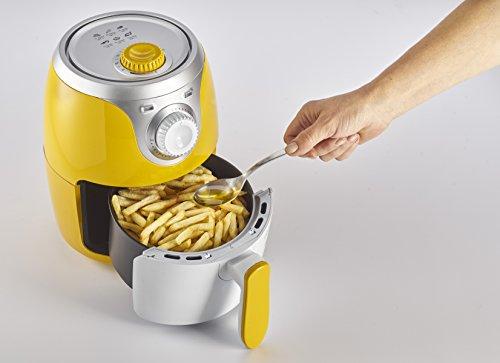 Ariete 4615 Airy Fryer Mini, Friggitrice ad aria senza olio, 1000 W, Capacità 2 Litri, Facile da pulire, Giallo 6