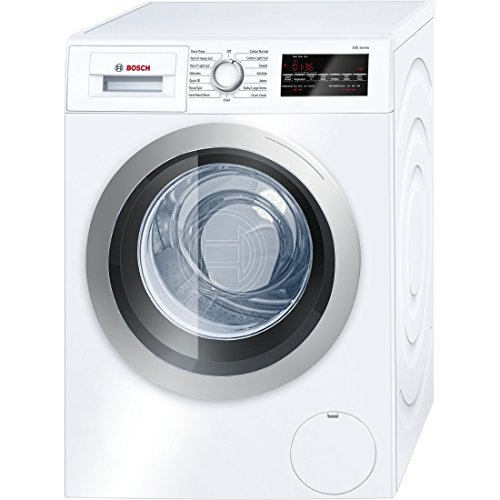 Bosch WAT28401UC 500 2.2 Cu. Ft. White Stackable Front Load Washer – Energy Star