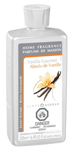 (Vanilla Gourmet | Lampe Berger Fragrance Refill by Maison Berger | for Home Fragrance Oil Diffuser | Purifying and perfuming Your Home | 16.9 Fluid Ounces - 500ml | Made in France)