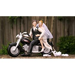 Motorcycle Biker Wedding Cake Topper By Magical Day