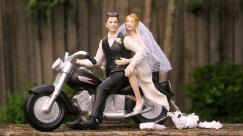 Motorcycle Biker Wedding Cake Topper By Magical Day -