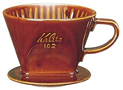KALITA JAPAN Home cafe Hand Drip Coffee Dripper 102 Lot Brown #02003