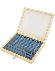 11-częściowy zestaw narzędzi tokarskich, zestaw narzędzi do toczenia węglików spiekanych, zestaw narzędzi tnących do spawania z końcówką z drewnianą obudową, zestaw narzędzi tokarskich do