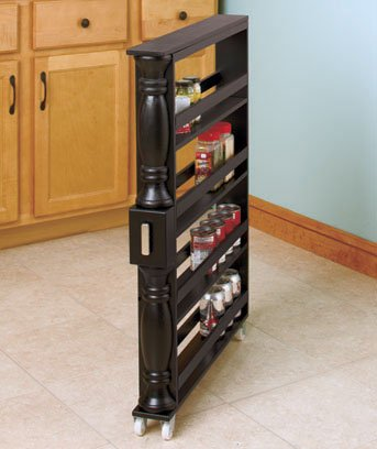 Slim Can and Spice Racks (Black) by Unique's Shop