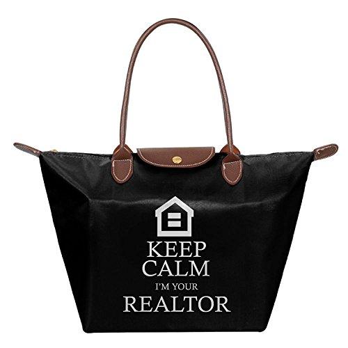 Handbag Dumpling Gripesack Keep Your Folding I'm Nylon Calm Shoulder Top Realtor Backpack Bag Handle Shopping Women's Satchel 1IUqzd