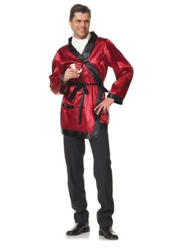 Leg Avenue Men's 2 Piece Cigarette Smoke Jacket And Pipe Costume