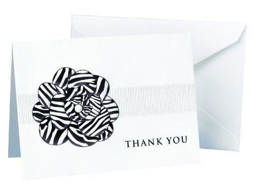 Hortense B. Hewitt Wedding Accessories Zebra Print Flower Thank You Cards, 25 Count -