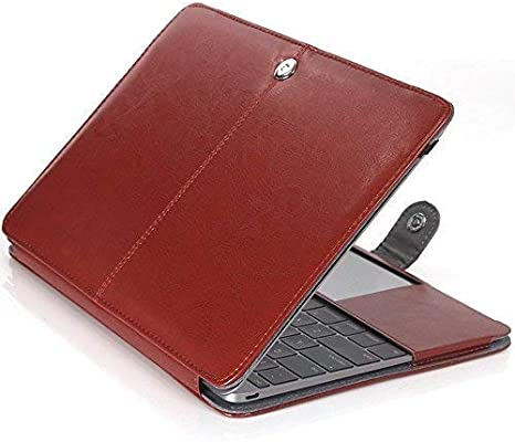 11.6 Macbook Air Sleeve,Businda Premium PU Leather Luxury Bookstyle Stand Folio Slim Fit Lightweight Stylish Classic Style Ultra Thin Retro Case for Macbook Air 11.6 Inch