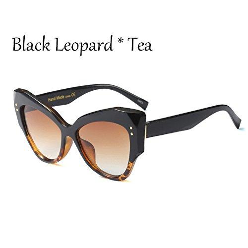 Big Eye Sol Cat Sombras Black De Gradiente De C2 Gafas TIANLIANG04 Gafas Sol Uv400 Frame De C3 Señoras Lujo Mujer Leopard Sobredimensionado Gris Leopard fEqwPPd