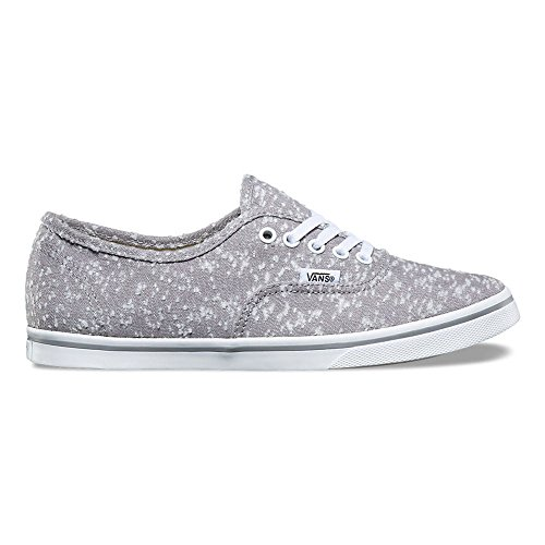Vans Authentieke Lo Pro (gemêleerde Canvas) Fashion Sneakers Frost Grey / True White Maat 8,5 Heren / 10 Dames