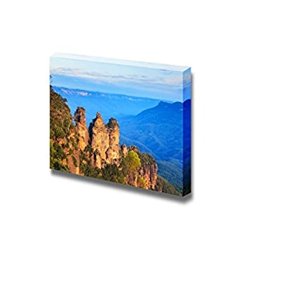 Beautiful Scenery Landscape The Three Sisters from Echo Point Blue Mountains National Park NSW Australia - Canvas Art Wall Art - 32