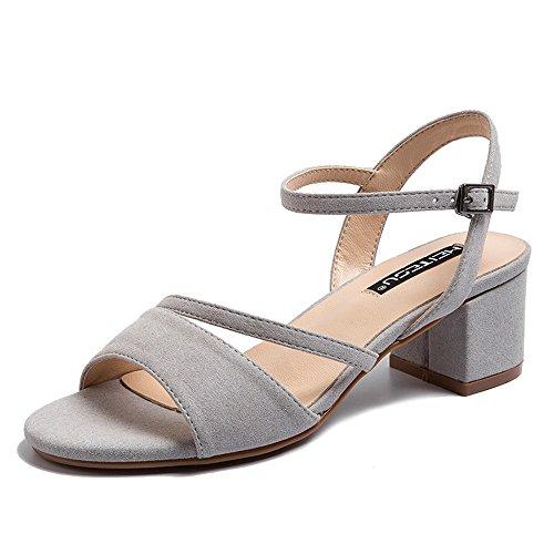 0777fb0e Barato Huahua Peri Zapatos Sandalias De Amarre Ranurados De Verano Femenina  Versión Coreana De La Simple