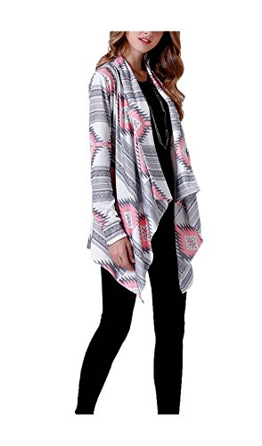 ARJOSA Womens Geometric Sleeve Cardigan