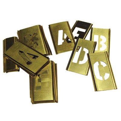 Brass Stencil Gothic Style Letter Sets - 8'' 33pc brass letter set-gothic by C.H. Hanson