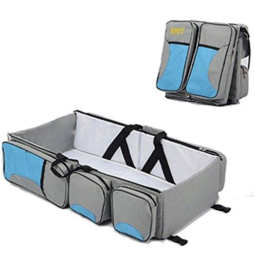 Cuna de viaje bolsa para pañales y cambiador cambio estación Pañales para bebé bolsa para pañales, diseño de cama bebé carrito cuna cuna guardería cama portátil negro rosso Azul