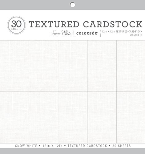 Colorbok Textured Cardstock Paper Pad, 12